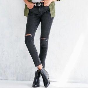 BDG Grey Crop Twig High Rise Jeans